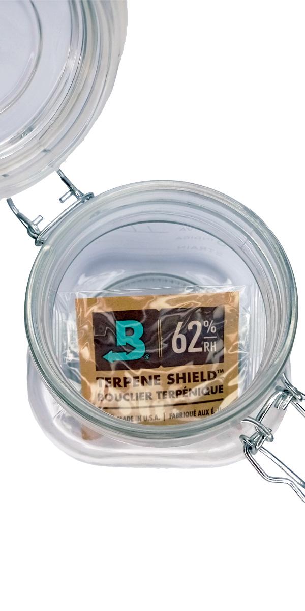 Kit 1 Pote Hermético  Holder de 1,5L + Boveda 62% de 8 Gramas