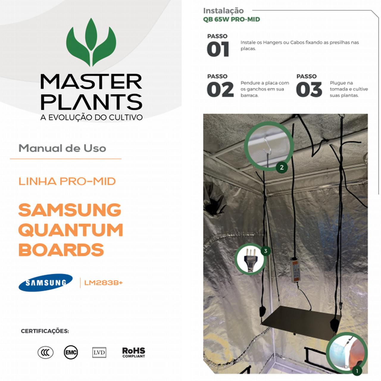 Painel Led Quantum Board PRO MID 65W Master Plants