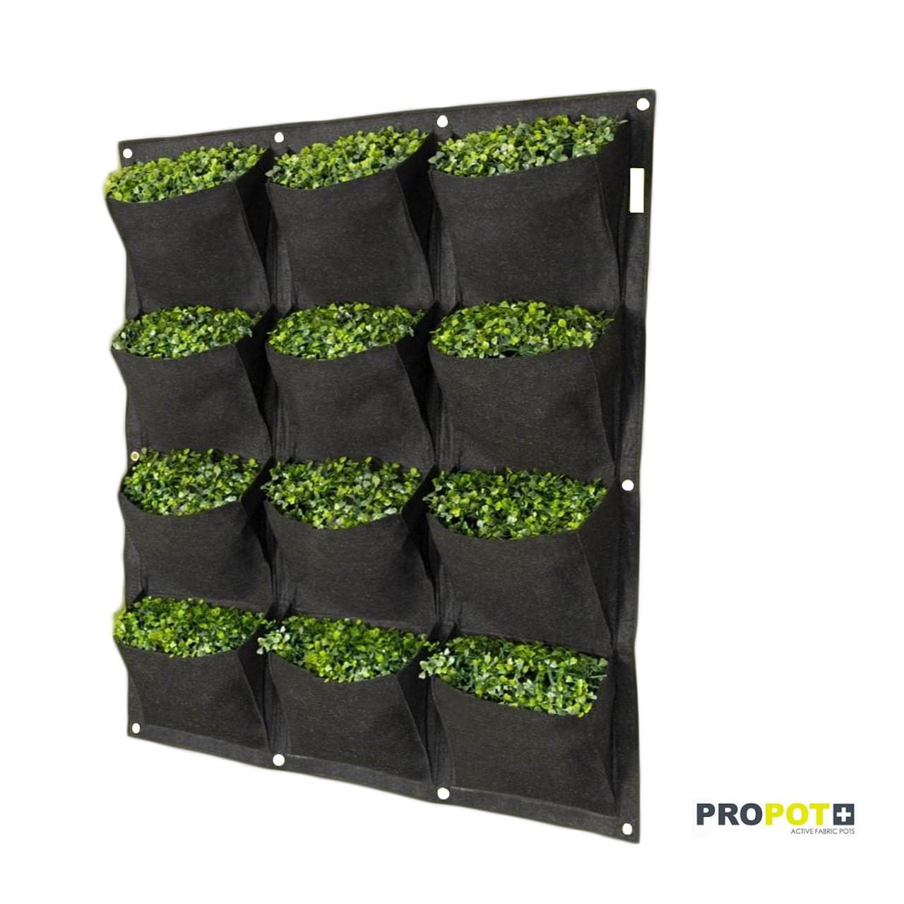 Propot Wall 12  Vasos de Feltro para Jardim Vertical Garden High Pro