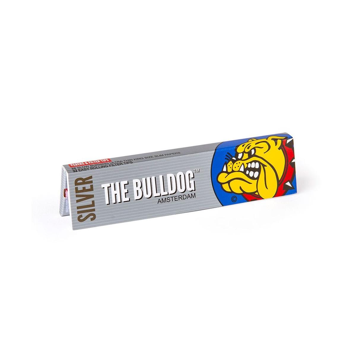 Seda Bulldog SILVER King Size 32 Sedas e 32 Piteiras