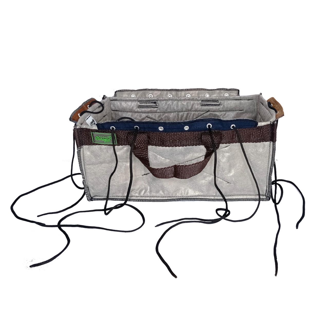 Vaso de Feltro PC Grow de 5 Litros com Alças e Amarras Clorofila Garden