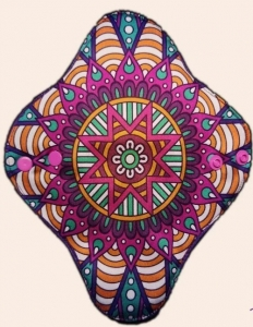 Absorvente Feminino Noturno Mandala Estrela Colorida