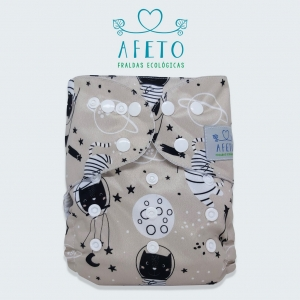 Astronauta - Afeto - Pull - Acompanha absorvente de meltom 6 camadas.