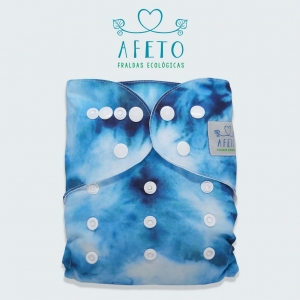 Azul Tie Dye - Afeto - Acompanha absorvente de meltom 6 camadas
