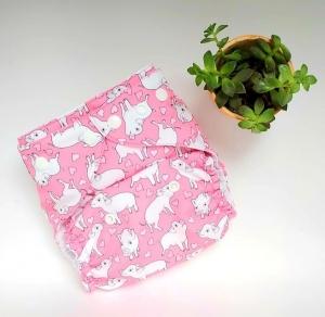 Porquinho Rosa (pull) - Leli Eco - Acompanha Absorvente de Meltom