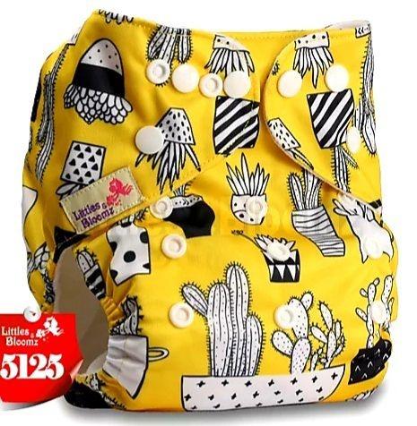Fralda Cactos Amarelo em Pull - Little e Bloomz