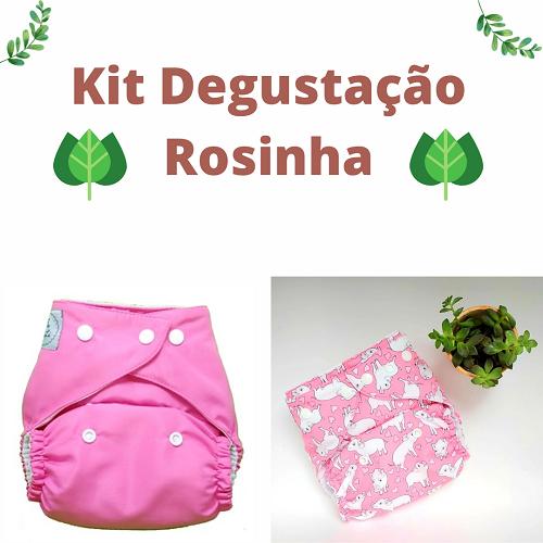 Kit Degustação Rosinha - Leli Eco- 2 fraldas e 4 absorventes