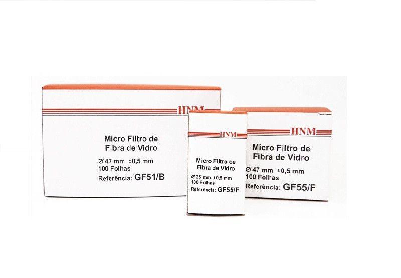 MICROFILTRO EM FIBRA VIDRO 47MM GF52C PACOTE COM 100 HNM