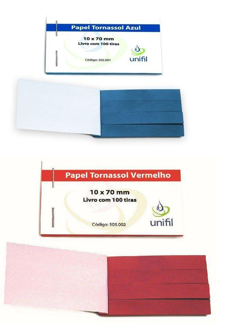 PAPEL DE TORNASSOL PACOTE COM 100 UNIDADES