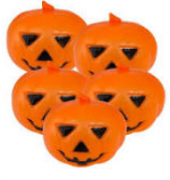Abóbora Plástica Halloween c/3 Unidades