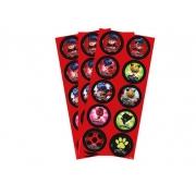 Adesivo Decorativo LadyBug c/3 Cartelas - Regina