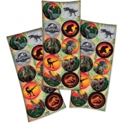 Adesivo Redondo Decorativo Jurassic World c/30  - Festcolor