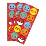 Adesivo Redondo Decorativo Pocket Monsters c/30  - Junco