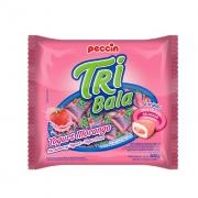 Bala Tribala Recheada Yogurt Morango 500g - Peccin