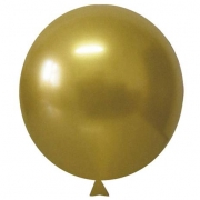 Balão Alumínio Nº5 Dourado c/25 - Happy Day