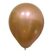 Balão Alumínio Nº9 Bronze c/25 - Happy Day
