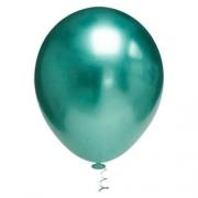 Balão Alumínio Nº9 Verde Oceano c/25 - Happy Day
