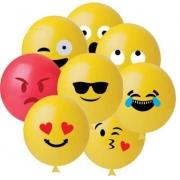 Balão Nº11 Emoticons Sortido c/25 - Happy Day
