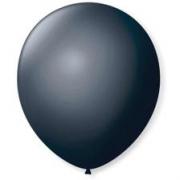 Balão Nº8 Preto c/50 - Happy Day