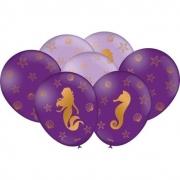 Balão Nº9 Especial Sereia c/25 - Festcolor
