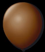 Balão Nº9 Marrom c/30 - Happy Day
