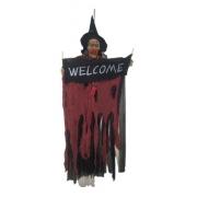 Bruxa Caveira Halloween Welcome