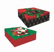 Caixa Quadrada Natal G (Modelos Sortidos) - Mf Embalagens