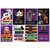 Cartaz Decorativo Happy Halloween c/8 - Cromus