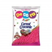 Cereal Crocante Rosa 500G - Decora