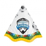 Chapéu de Aniversário Apaixonados Por Futebol c/8 - Festcolor
