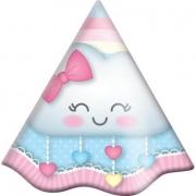 Chapéu de Aniversário Chuva De Amor c/8 - Festcolor