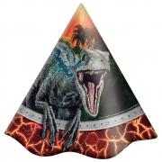 Chapéu de Aniversário Jurassic World c/8 - Festcolor