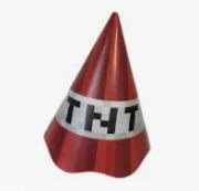 Chapéu de Aniversário Mini Pixels c/8 - Junco