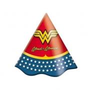 Chapéu de Aniversário Mulher Maravilha c/8 - Festcolor