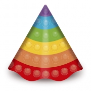 Chapéu de Aniversário Pop IT c/8 - Junco