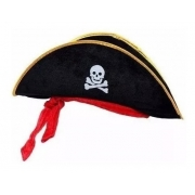 Chapéu Pirata c/ Fita Vermelha