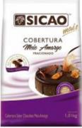 Cobertura mais sabor chocolate ao leite com meio amargo 1,01kg