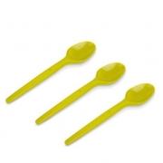 Colher Sobremesa Amarelo c/50 - Kaixote