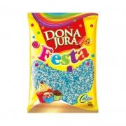 Confeito Miçanga Azul/Branco 500g - Dona Jura
