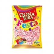 Confeito Miçanga Rosa/Branco 500g - Dona Jura