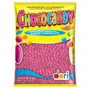 Confeitos de Chocolate Chococandy Rosa 350g - Dori