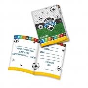 Convite Aniversário Apaixonados Por Futebol c/8 - Festcolor