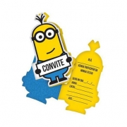 Convite Aniversário Minions c/8 - Festcolor