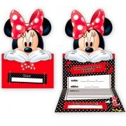 Convite Aniversário Minnie c/8 - Regina
