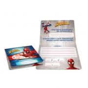 Convite Aniversário Spider Man c/12 - Regina