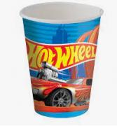 Copo de Papel Hot Wheels 200ml c/8 - Festcolor