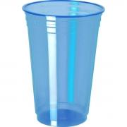 Copo Plástico Balada Neon Azul 300ml c/25 - Copobras