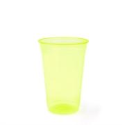 Copo Plástico Balada Neon Limão 300ml c/25 - Copobras