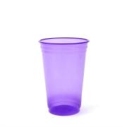 Copo Plástico Balada Neon Roxo 300ml c/25 - Copobras