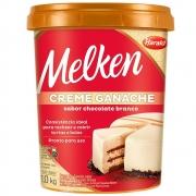Creme Ganache De Chocolate Branco 1kg - Melken Harald